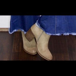 Short Booties - Taupe- Size 7 NEW